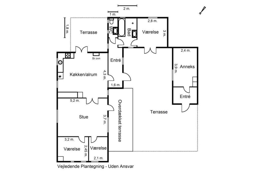 Indretning 1-17 Sommerhus 13341, Lyngvej 211, DK - 4560 Vig