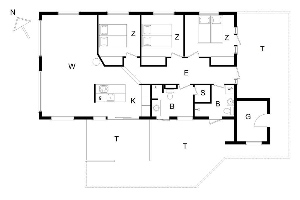 Interieur 1-14 Vakantiehuis 829, Klitvej 7, DK - 9800 Hjørring