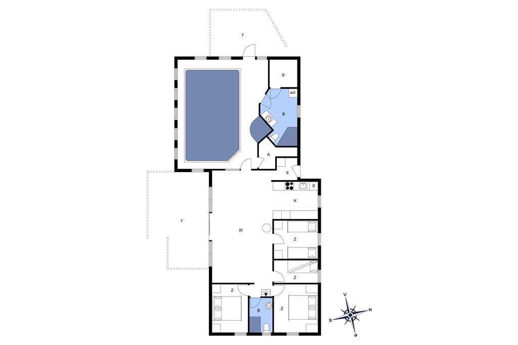 Indretning 1-13 Sommerhus 209, Isfuglevej 15, DK - 7770 Vestervig