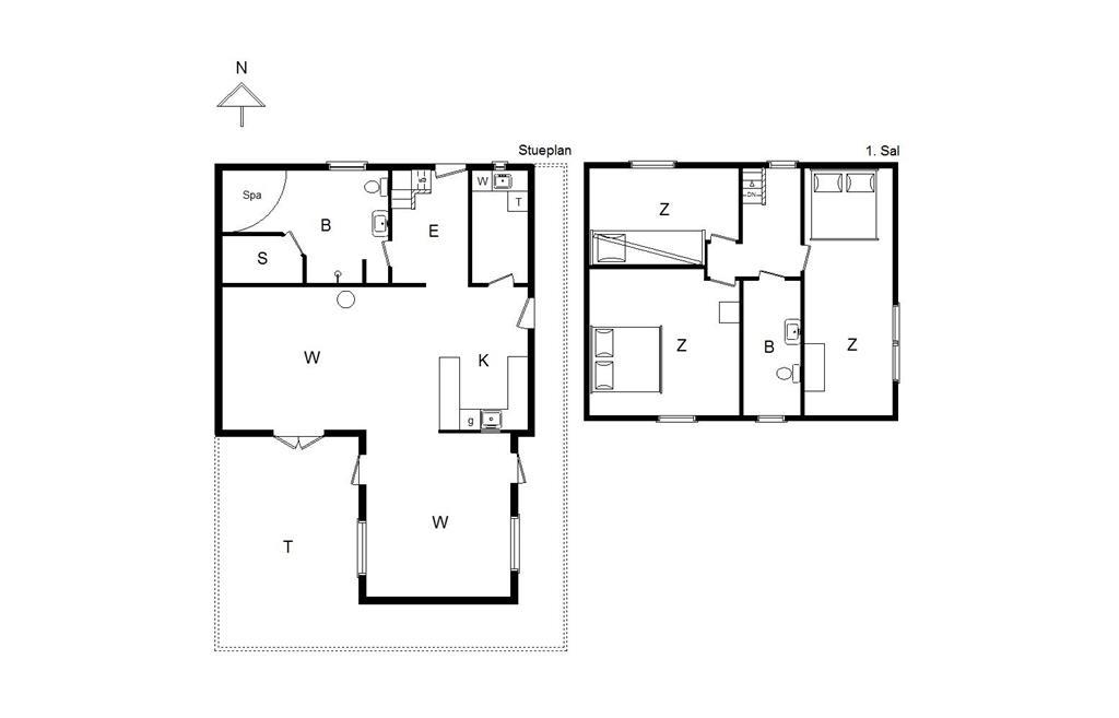 Interieur 1-14 Vakantiehuis 118, Sønder I By 32, DK - 9492 Blokhus