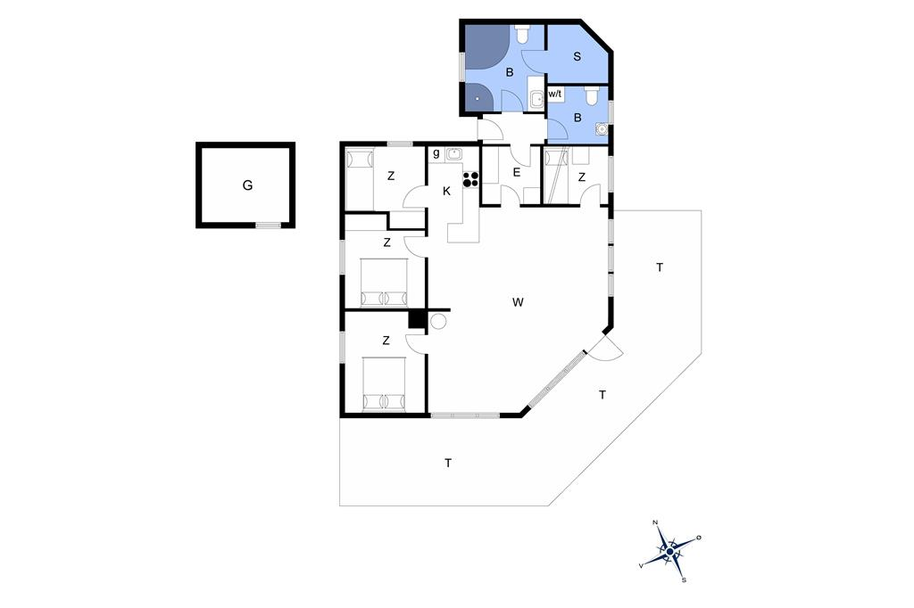 Innenausstattung 1-13 Ferienhaus 336, Nordsøvej 28, DK - 7700 Thisted