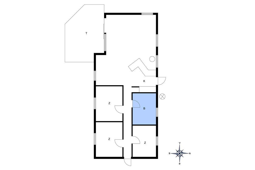 Indretning 1-10 Sommerhus 2632, Egernvej 7, DK - 3730 Nexø