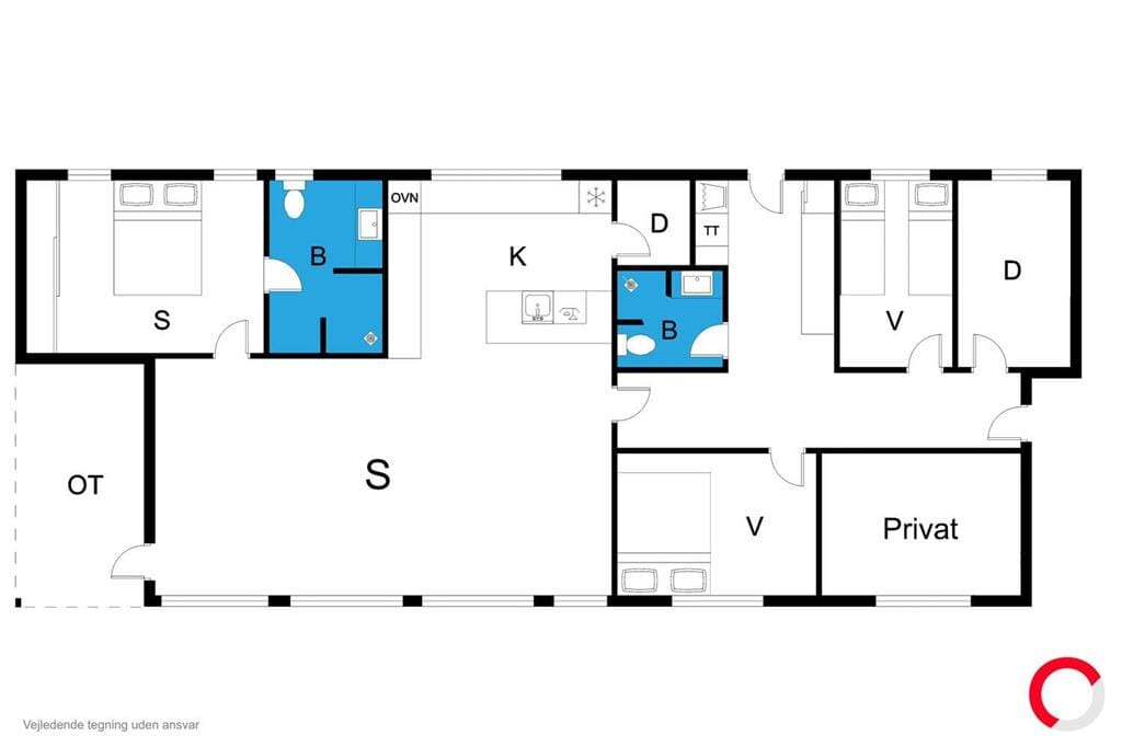 Indretning 1-23 Sommerhus 8225, Vrinners Strandvej 3, DK - 8420 Knebel
