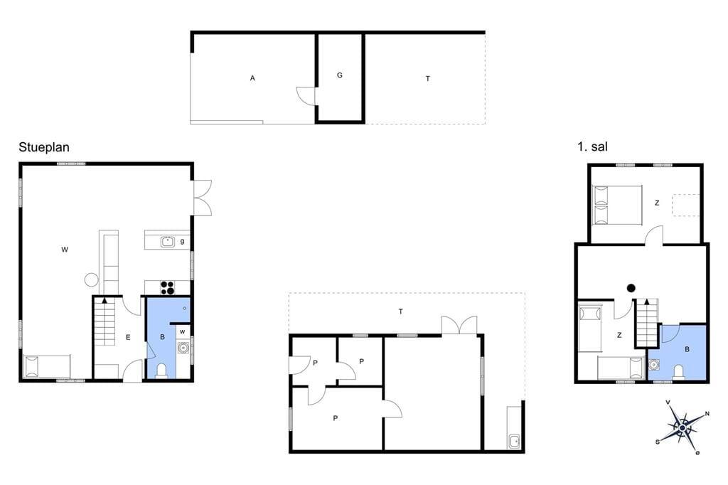 Indretning 1-13 Sommerhus 126, Stenbjerg Kirkevej 52, DK - 7752 Snedsted