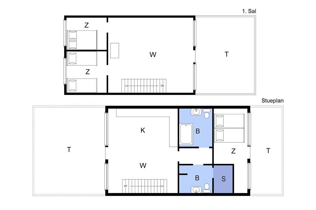 """Interieur 1-22 Vakantiehuis C11504, """"DESTINEE"""", Molen 7, DK - 6893 Hemmet"""