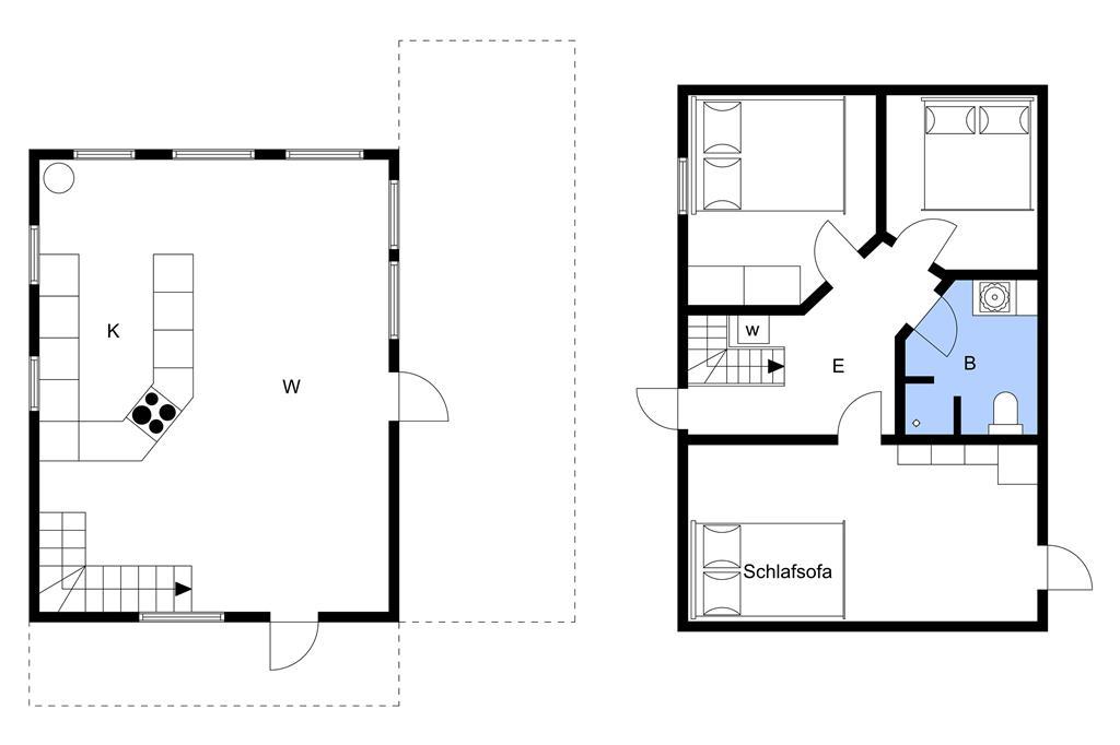 Indretning 1-3 Sommerhus M64588, Østre Strandvej 188, DK - 5450 Otterup