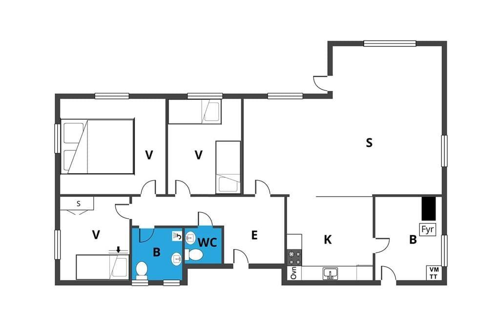 Indretning 1-170 Sommerhus 20214, Vestermarksvej 52, DK - 8305 Samsø