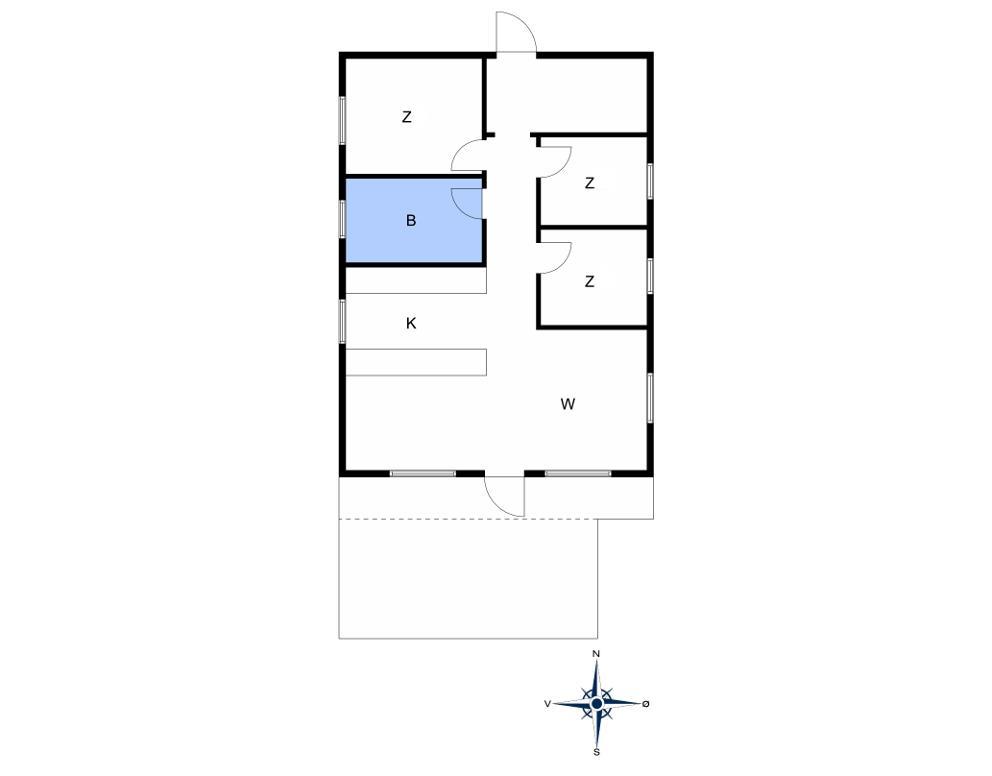 Indretning 1-10 Sommerhus 1446, Poserevænget 18, DK - 3720 Aakirkeby