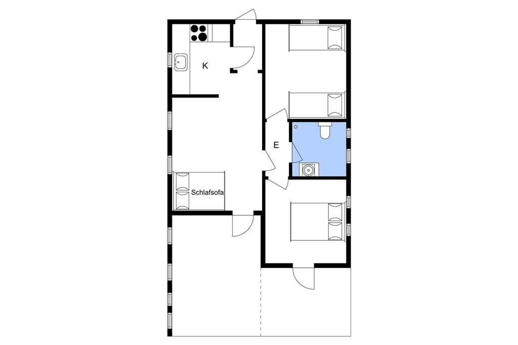 Indretning 1-3 Sommerhus L14208, Skrænten 6, DK - 7870 Roslev