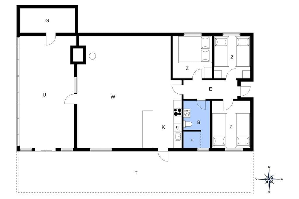 Innenausstattung 1-13 Ferienhaus 215, Tunvej 29, DK - 7700 Thisted