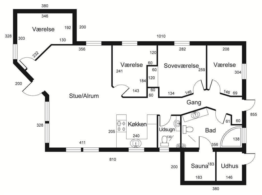 Indretning 1-15 Sommerhus FA059, Strandlodden 40, DK - 4654 Faxe Ladeplads