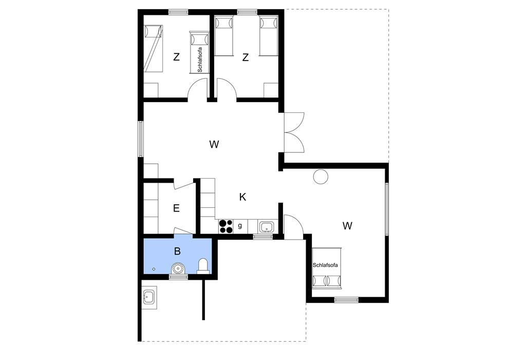 Innenausstattung 1-3 Ferienhaus M673968, Gyldenrisvej 18, DK - 5953 Tranekær