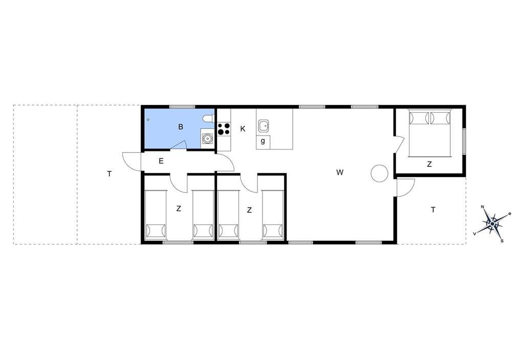 Indretning 1-3 Sommerhus L16154, Ramshule 54, DK - 9640 Farsø