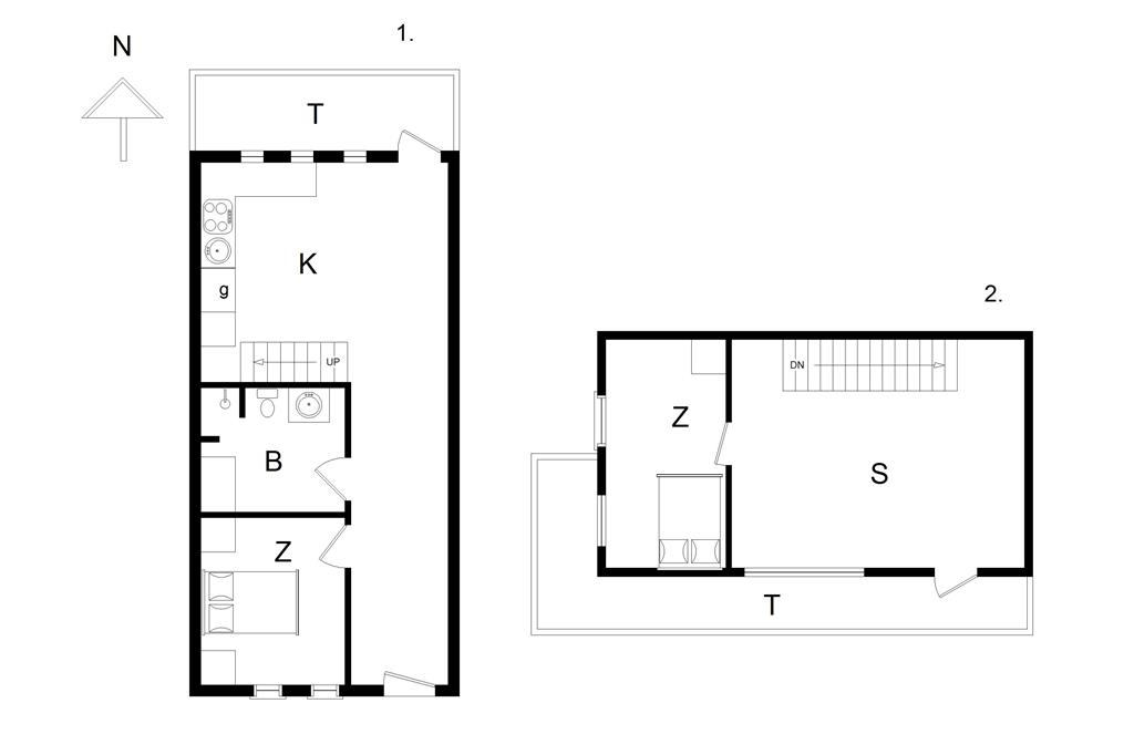 Indretning 1-14 Sommerhus 1008, Norgesvej 2, DK - 9480 Løkken