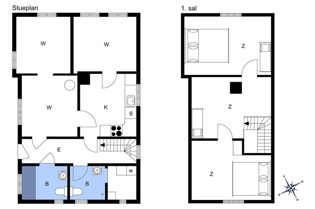Indretning 1-170 Sommerhus 20304, Ørby Hovedgade 35, DK - 8305 Samsø