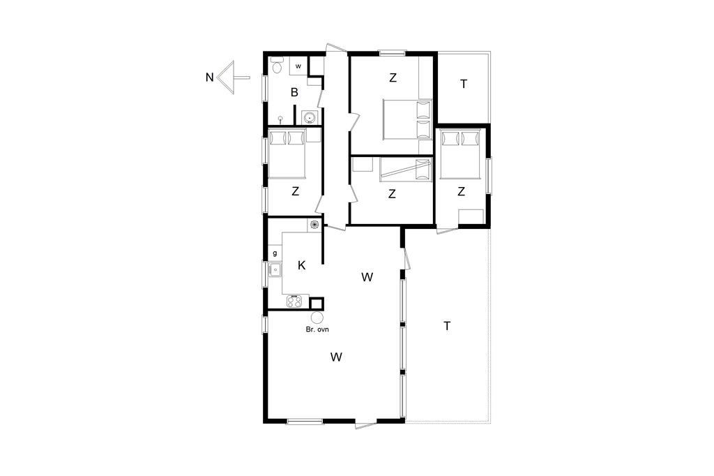 Indretning 1-14 Sommerhus 339, Skorr Karensvej 5, DK - 9490 Pandrup