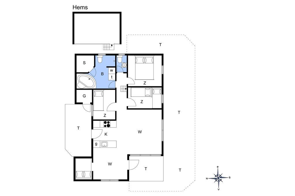 Innenausstattung 1-178 Ferienhaus LN1219, Rypevej 3, DK - 9800 Hjørring