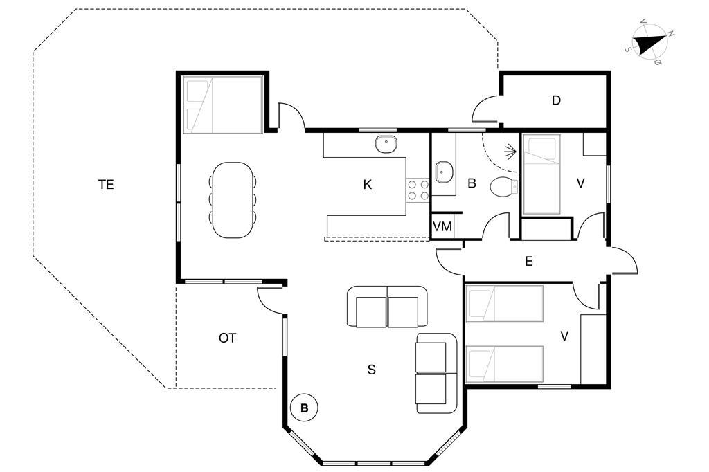 Innenausstattung 1-19 Ferienhaus 30090, Norsmindevej 171, DK - 8340 Malling