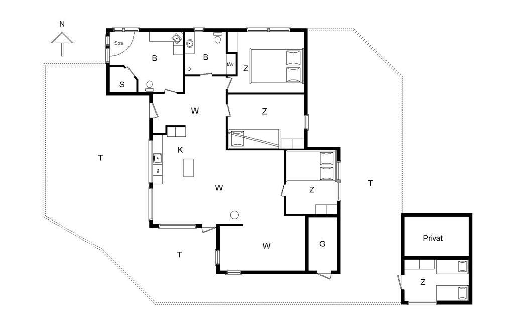 Indretning 1-14 Sommerhus 161, Taarnfalkevej 16, DK - 9492 Saltum