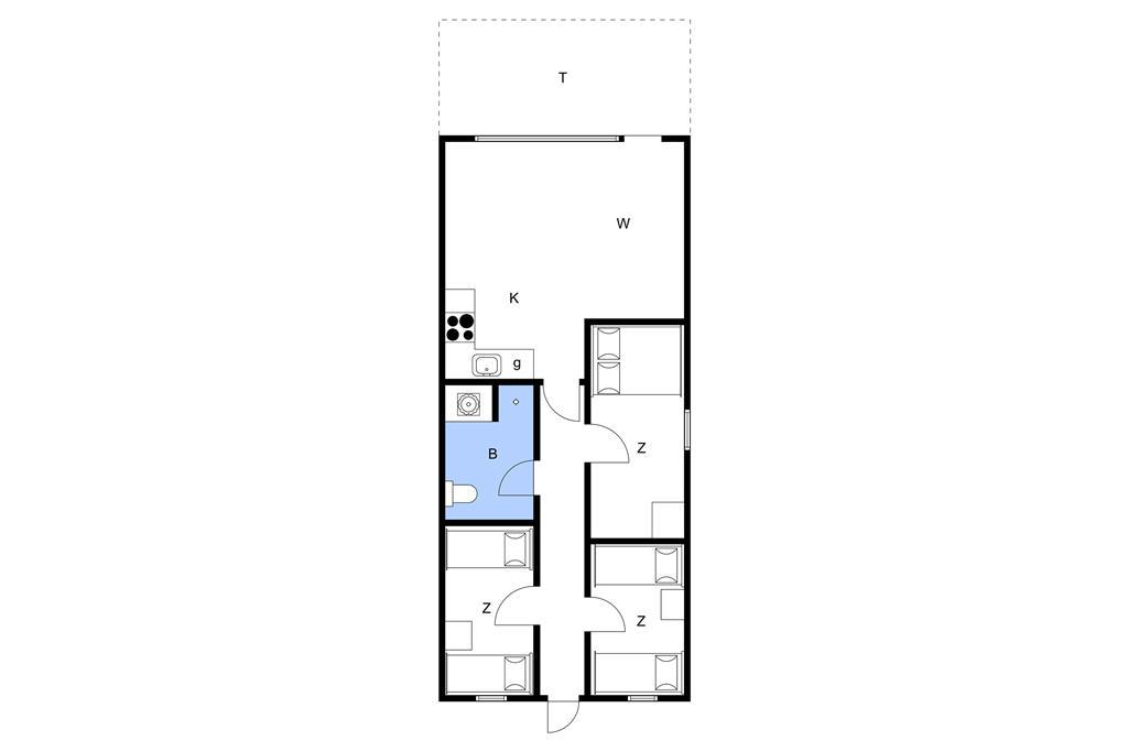 Indretning 1-11 Sommerhus 0278, Vestergade 3, DK - 6792 Rømø