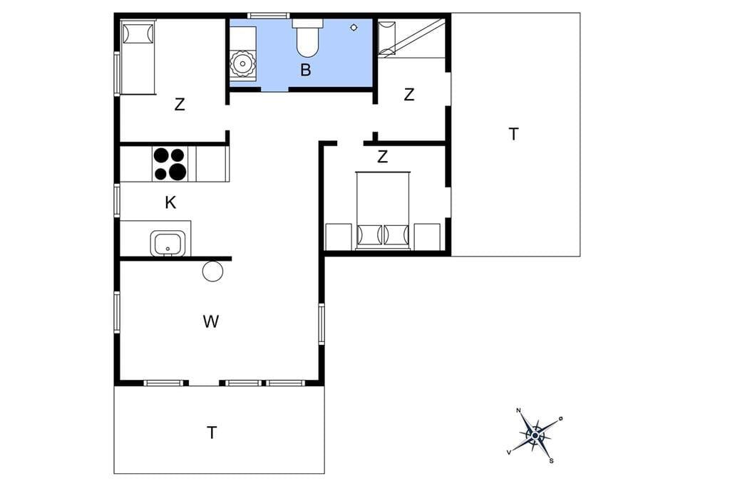 Indretning 1-4 Sommerhus 089, Mågedalen 36, DK - 6950 Ringkøbing
