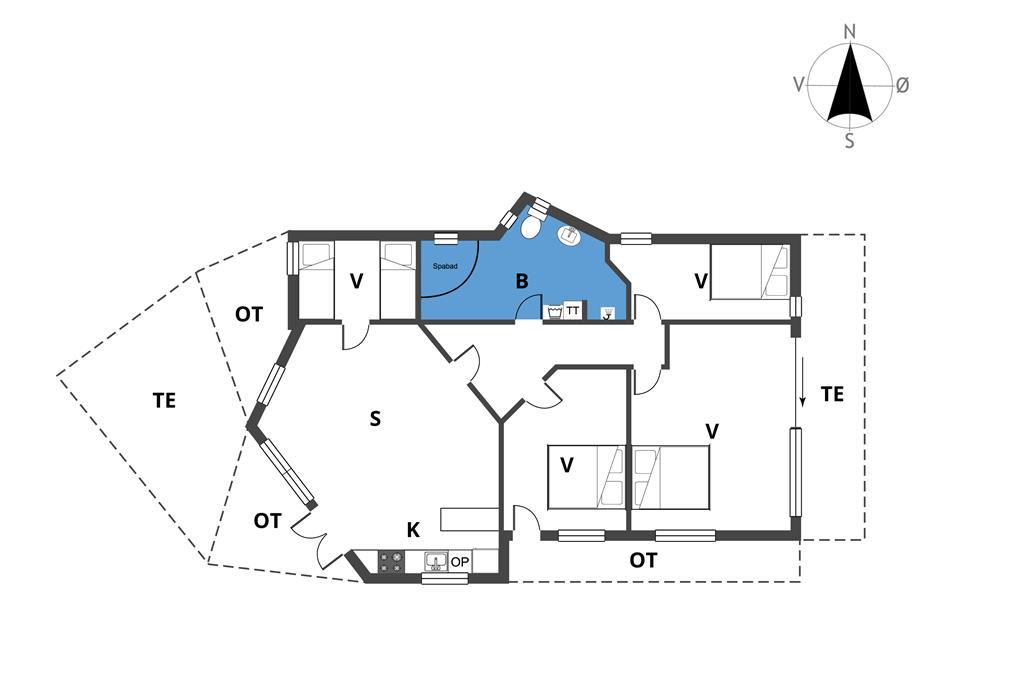 Innenausstattung 1-19 Ferienhaus 30385, Lyngbakkevej 34, DK - 8300 Odder