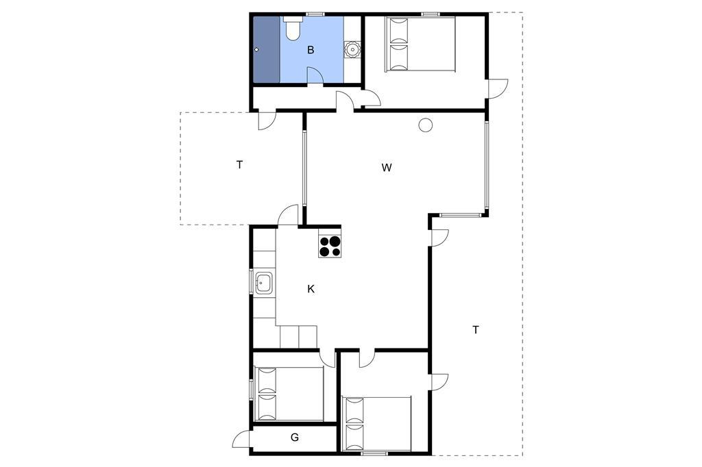 Indretning 1-3 Sommerhus L14037, Stranddalen 69, DK - 7870 Roslev
