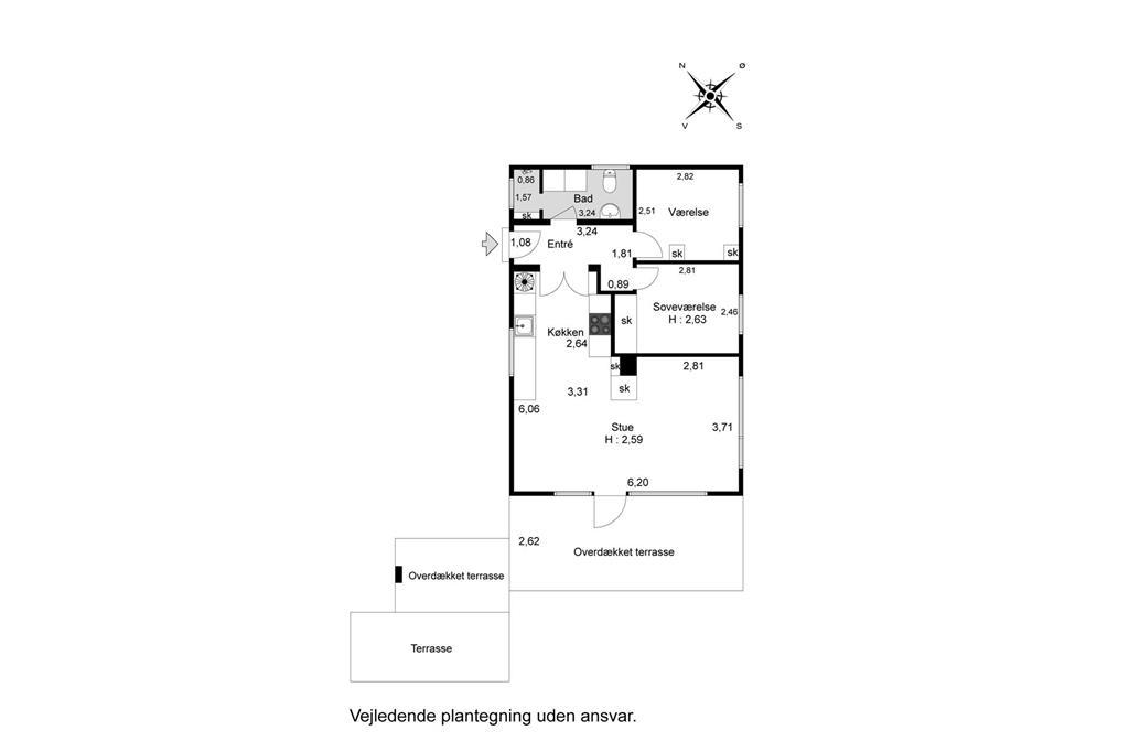 Indretning 1-26 Sommerhus SL251, Kongsmarkvej 194, DK - 4200 Slagelse