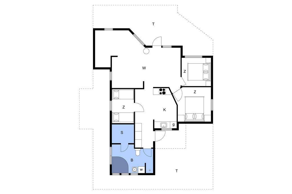 Innenausstattung 1-11 Ferienhaus 0184, Egedesminde 6, DK - 6792 Rømø