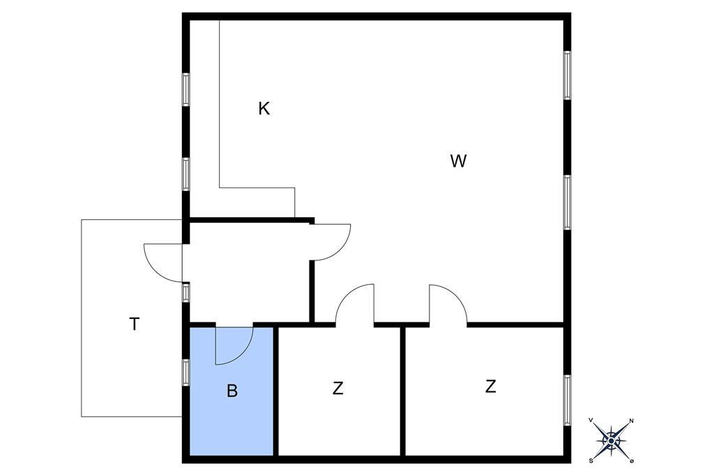 Indretning 1-10 Sommerhus 9001, Højlyngsvejen 1, DK - 3720 Aakirkeby