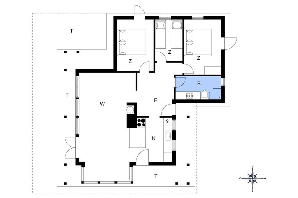 Interieur 1-176 Vakantiehuis BL1626, Bondagervej 91, DK - 9493 Saltum