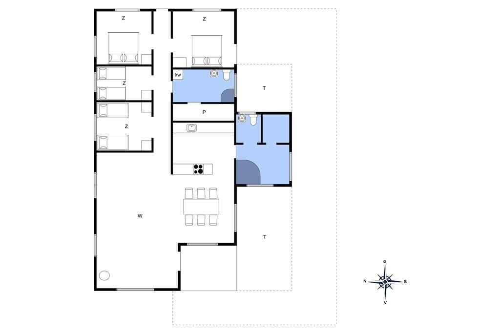 Indretning 1-4 Sommerhus 641, Julianevej 13, DK - 6960 Hvide Sande