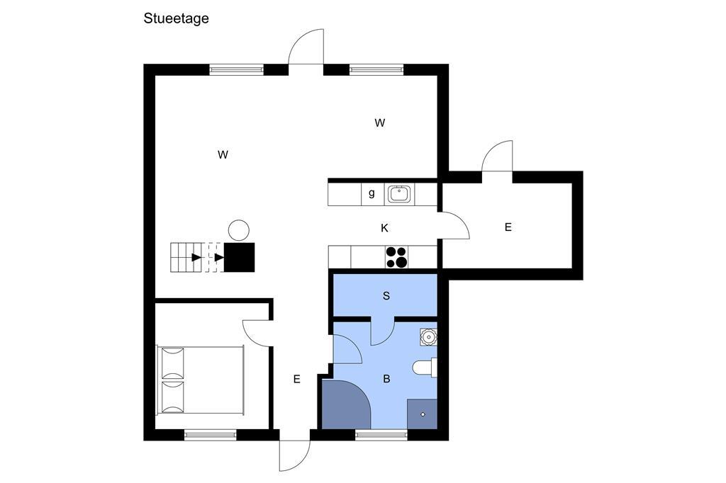 Indretning 1-3 Sommerhus M64351, Strandgårdsvej 213, DK - 5464 Brenderup Fyn