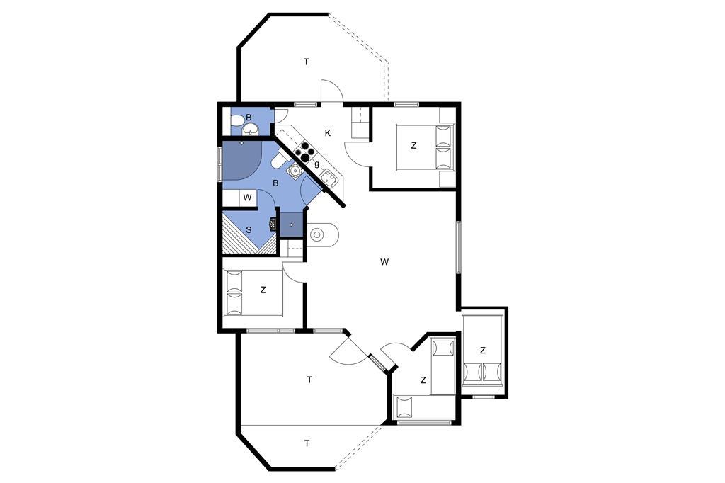 Indretning 1-23 Sommerhus 8413, Høgevej 21, DK - 8400 Ebeltoft