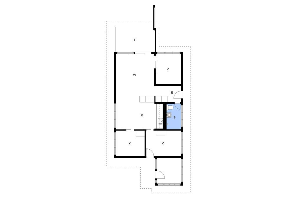 Indretning 1-15 Sommerhus 1078, Kristtjørnvej 33, DK - 4780 Stege