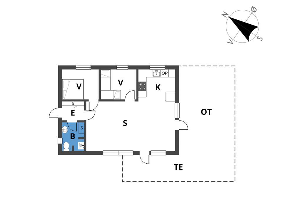 Innredning 1-23 Feirehus 8209, Bjergstien 9, DK - 8420 Knebel