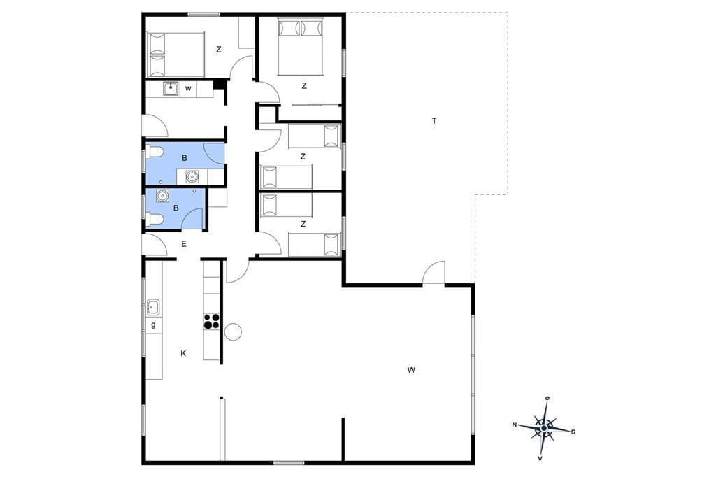 Indretning 1-13 Sommerhus 597, Sømærkevej 55, DK - 7752 Snedsted