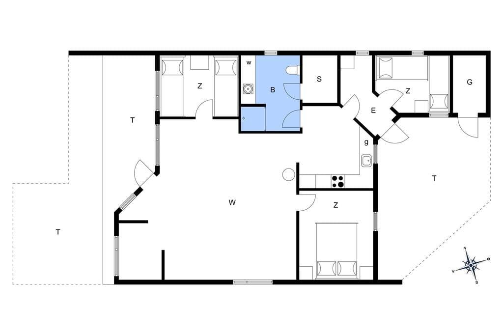 Innenausstattung 1-22 Ferienhaus C11029, Horsfold 166, DK - 6893 Hemmet
