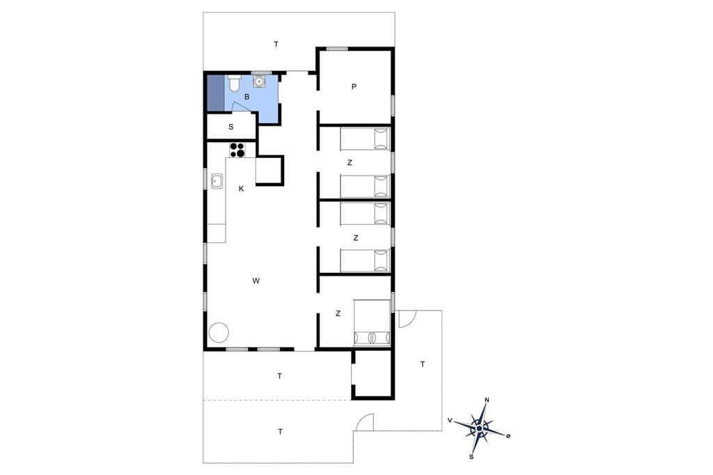 Indretning 1-4 Sommerhus 542, Baunebjergvej 72, DK - 6960 Hvide Sande