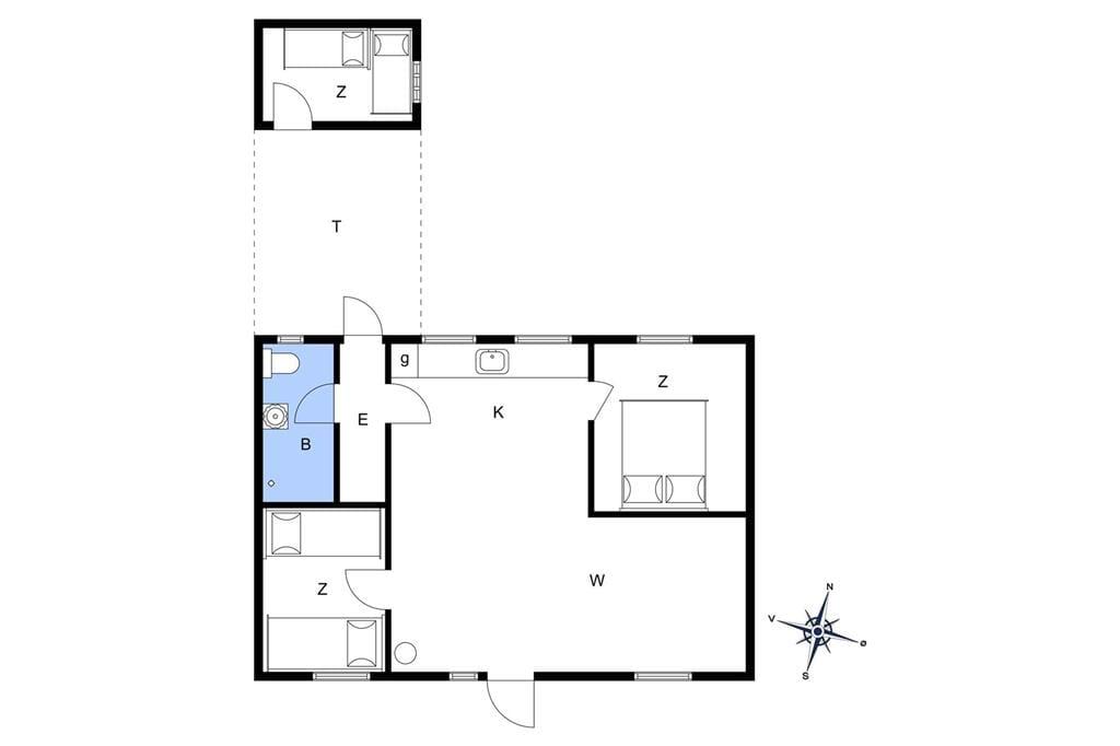 Interieur 1-172 Vakantiehuis JB113, Egernvej 39, DK - 9460 Brovst