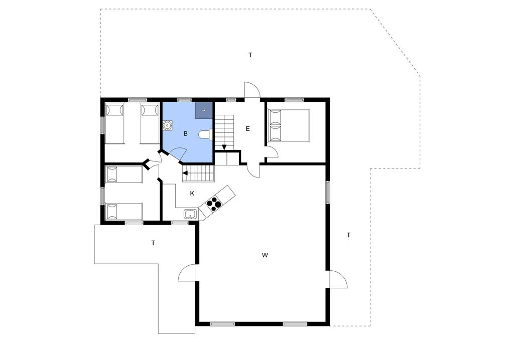 Indretning 1-3 Sommerhus L15179, Mosevej 138, DK - 7840 Højslev