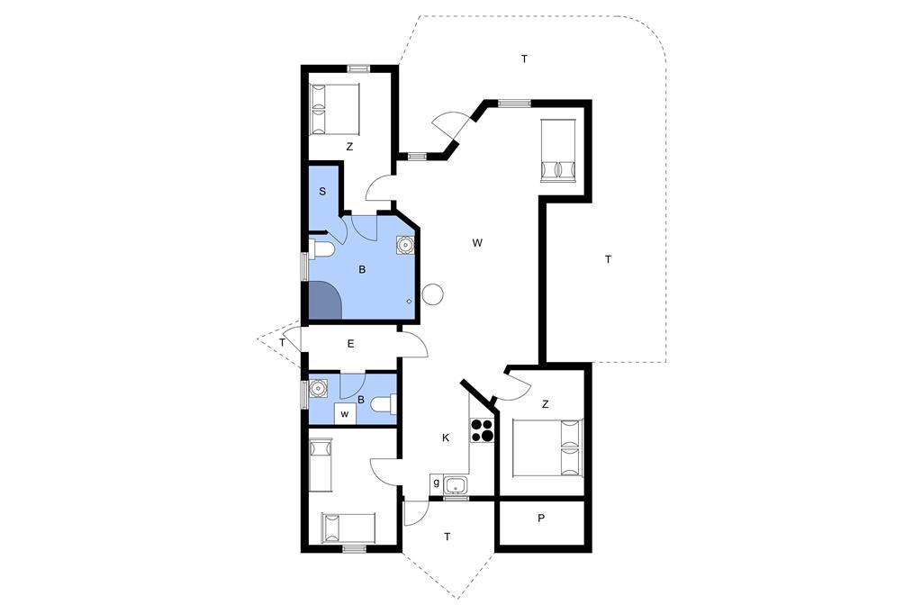 Innenausstattung 1-11 Ferienhaus 0391, Lyngvejen 45, DK - 6792 Rømø
