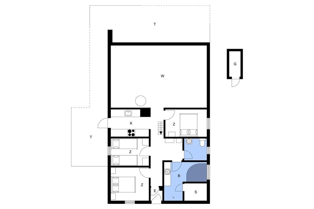 Indretning 1-20 Sommerhus 309, Fourmivej 28, DK - 7673 Harboøre