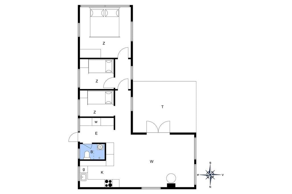 Innenausstattung 1-26 Ferienhaus K19051, Agnesvej 4, DK - 4400 Kalundborg