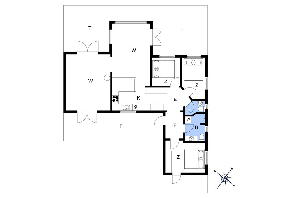 Indretning 1-3 Sommerhus M66252, Østerø Strandvej 12, DK - 5800 Nyborg