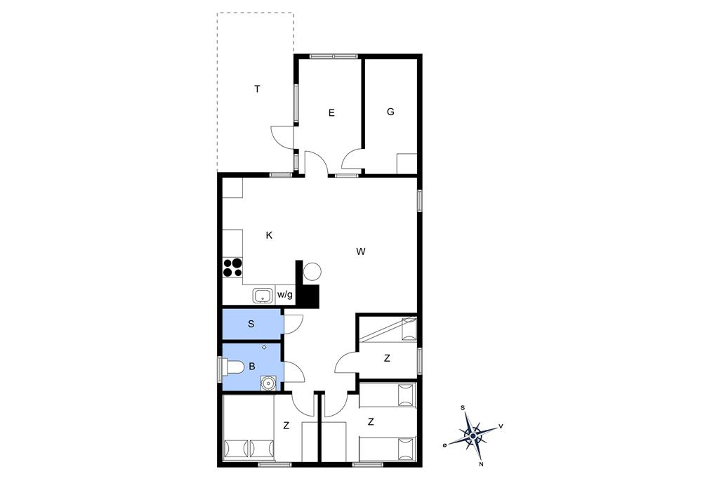 Interieur 1-13 Vakantiehuis 812, Mose-Bøllevej 2, DK - 7700 Thisted
