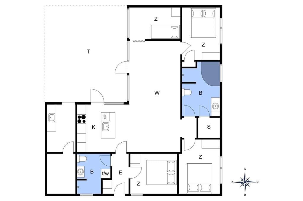 Indretning 1-11 Sommerhus 0341, Vestergade 351, DK - 6792 Rømø