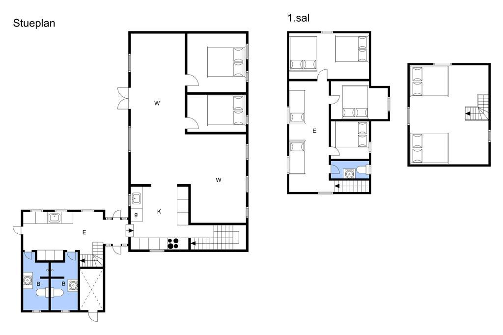 Indretning 1-3 Sommerhus M65701, Egsgyden 35, DK - 5600 Faaborg
