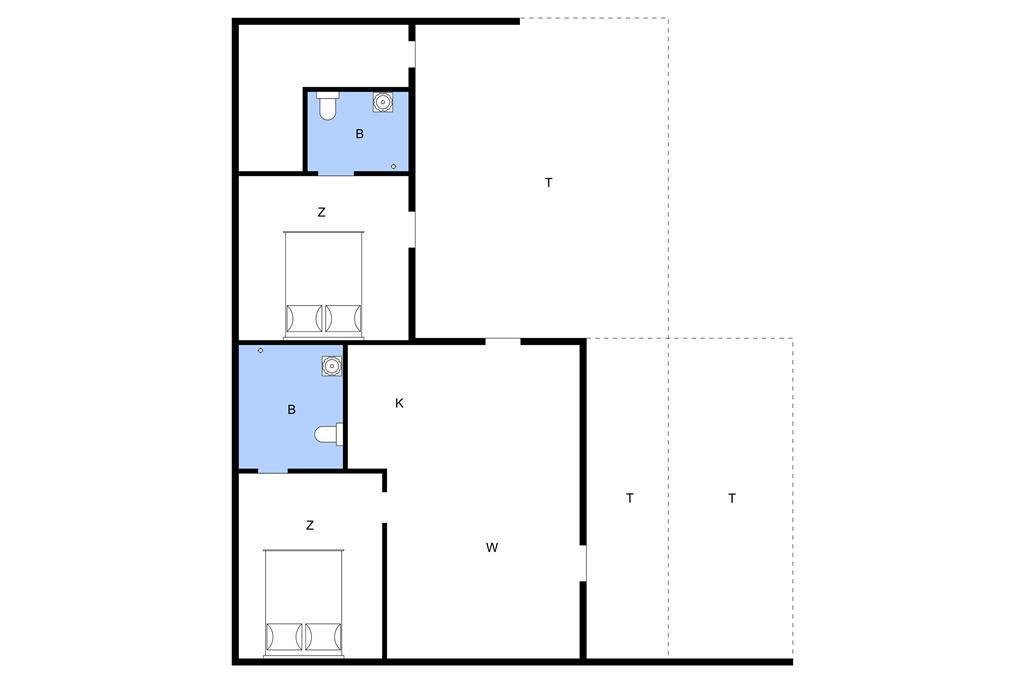 Indretning 1-13 Sommerhus 543, Sarasvej 3, DK - 7752 Snedsted