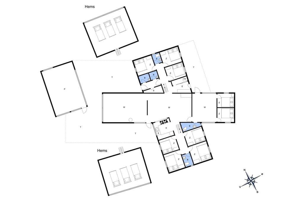 Indretning 1-20 Sommerhus 316, Crownvej 9, DK - 7673 Harboøre